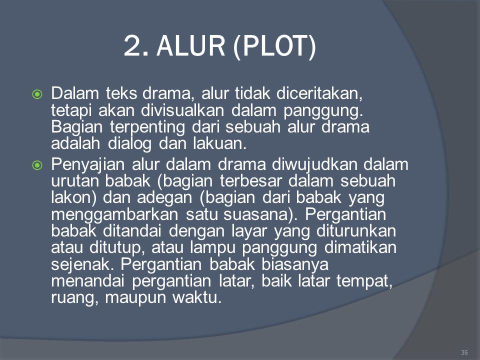 2. ALUR (PLOT)