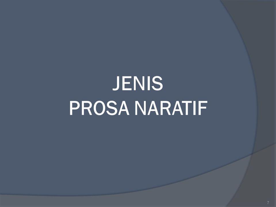 JENIS PROSA NARATIF