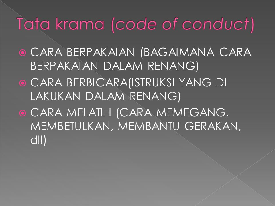 Tata krama (code of conduct)