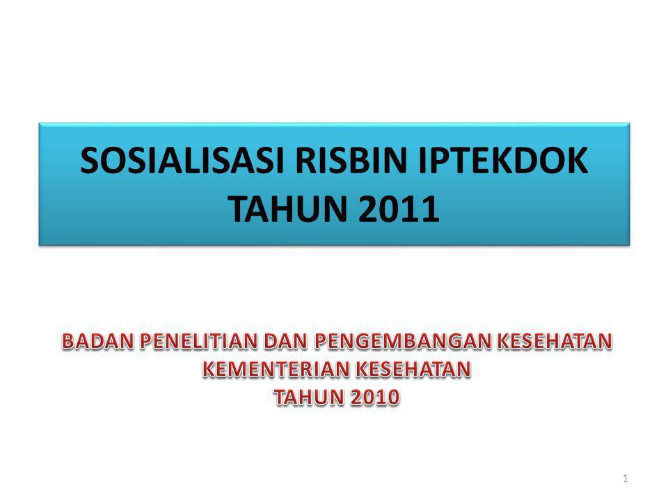 SOSIALISASI RISBIN IPTEKDOK TAHUN 2011