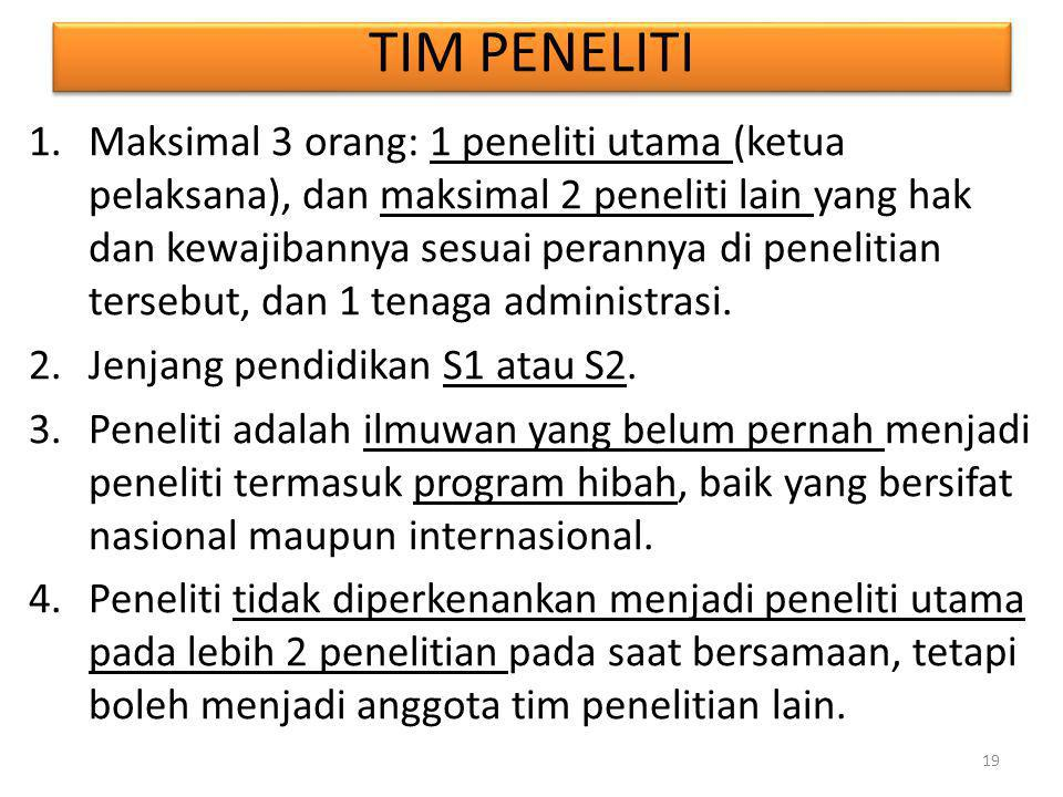 TIM PENELITI