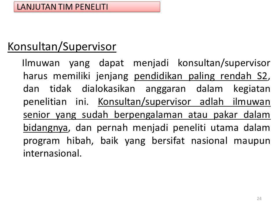 Konsultan/Supervisor