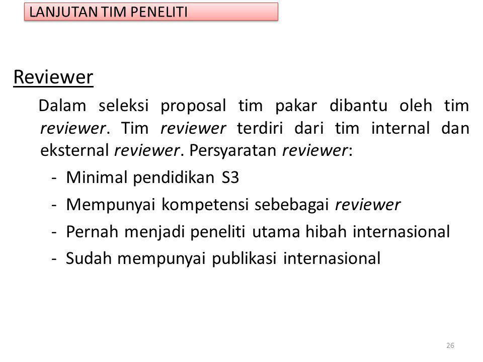 LANJUTAN TIM PENELITI Reviewer.