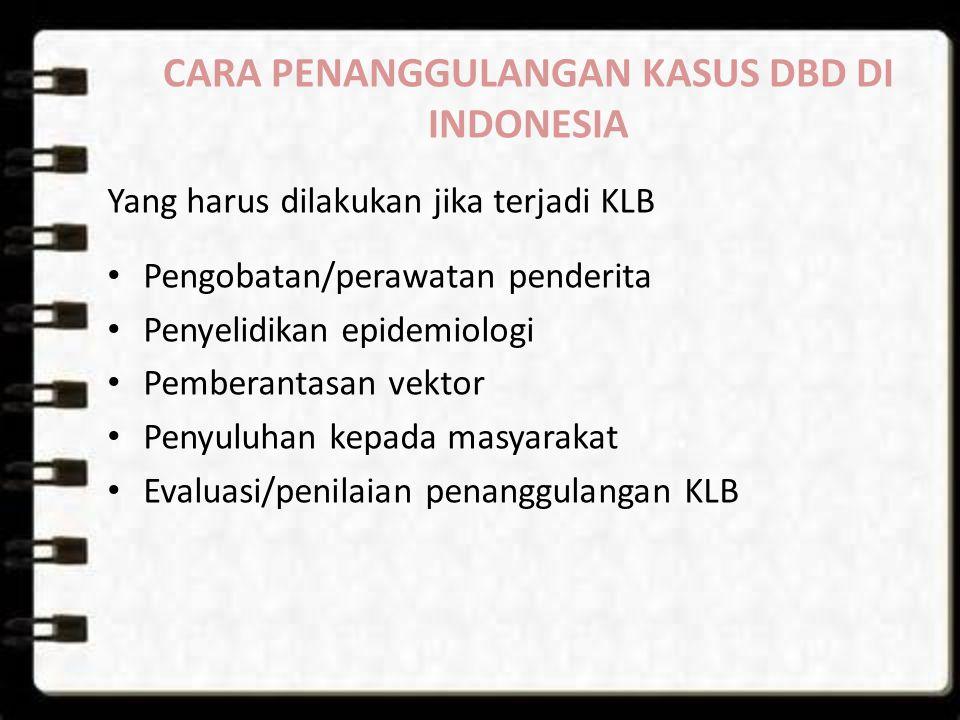 CARA PENANGGULANGAN KASUS DBD DI INDONESIA