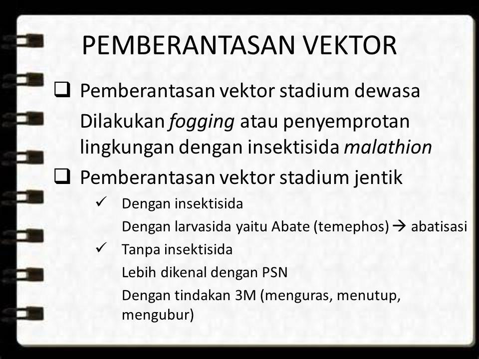 PEMBERANTASAN VEKTOR Pemberantasan vektor stadium dewasa