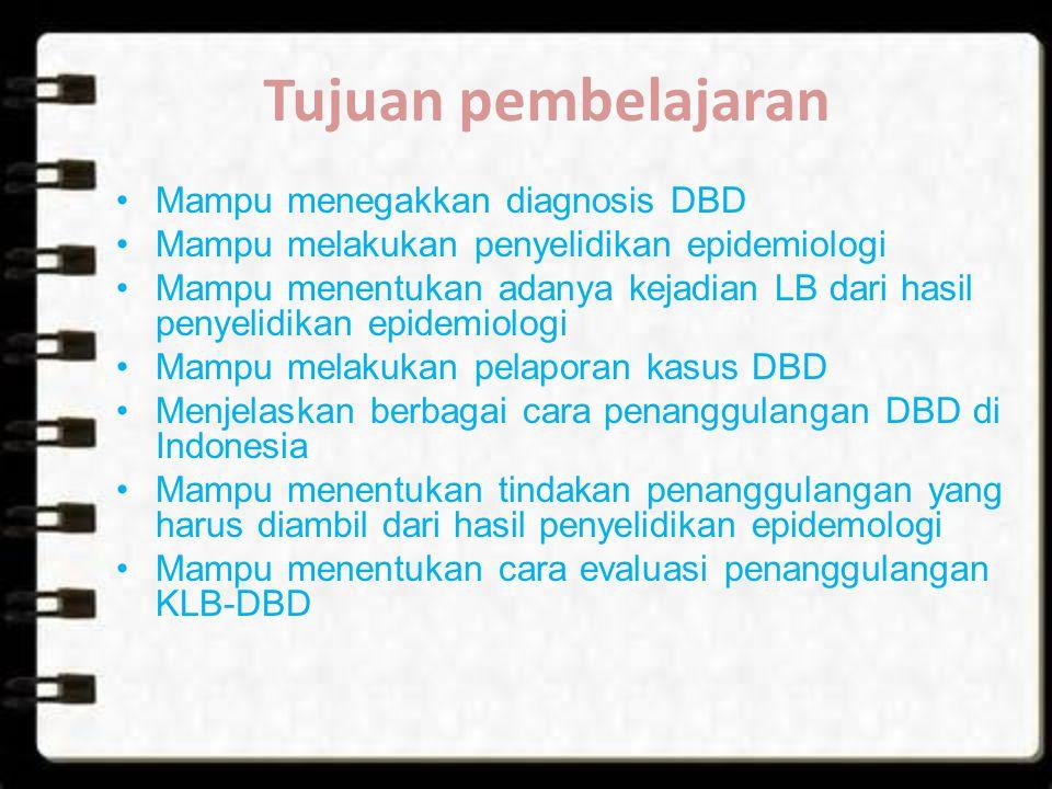 Tujuan pembelajaran Mampu menegakkan diagnosis DBD