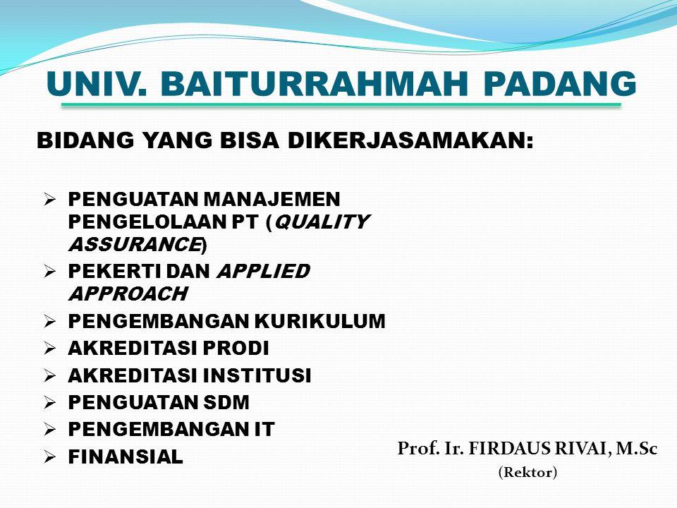 UNIV. BAITURRAHMAH PADANG