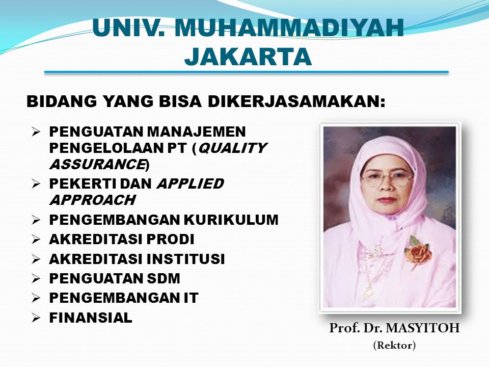 UNIV. MUHAMMADIYAH JAKARTA