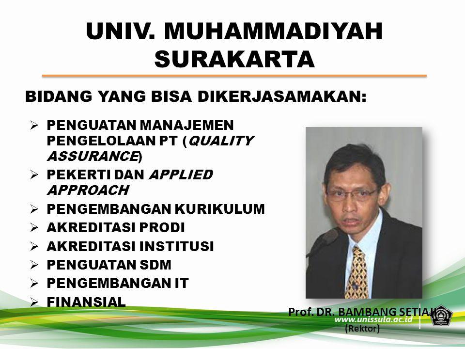 UNIV. MUHAMMADIYAH SURAKARTA