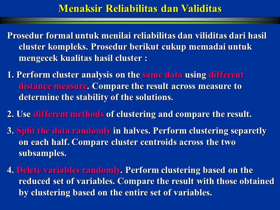 Menaksir Reliabilitas dan Validitas