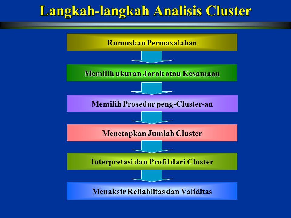 Langkah-langkah Analisis Cluster
