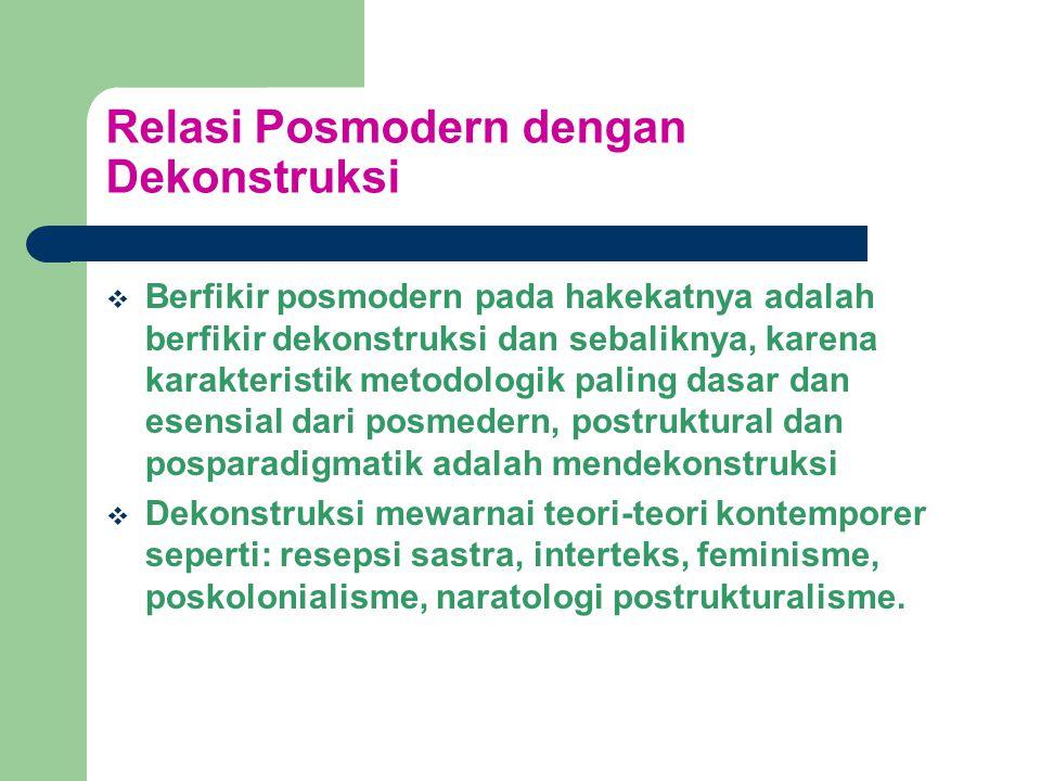 Relasi Posmodern dengan Dekonstruksi