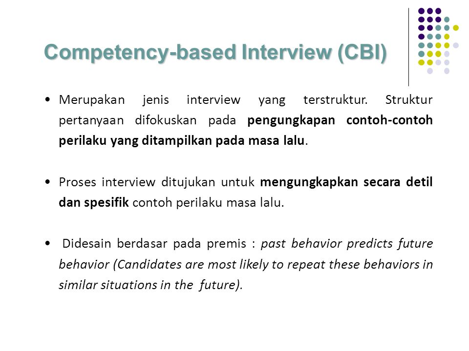 Competency-based Interview (CBI)