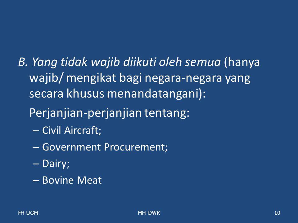 Perjanjian-perjanjian tentang: