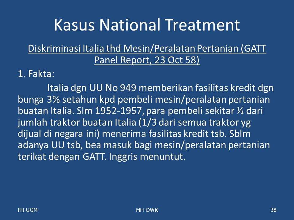 Kasus National Treatment