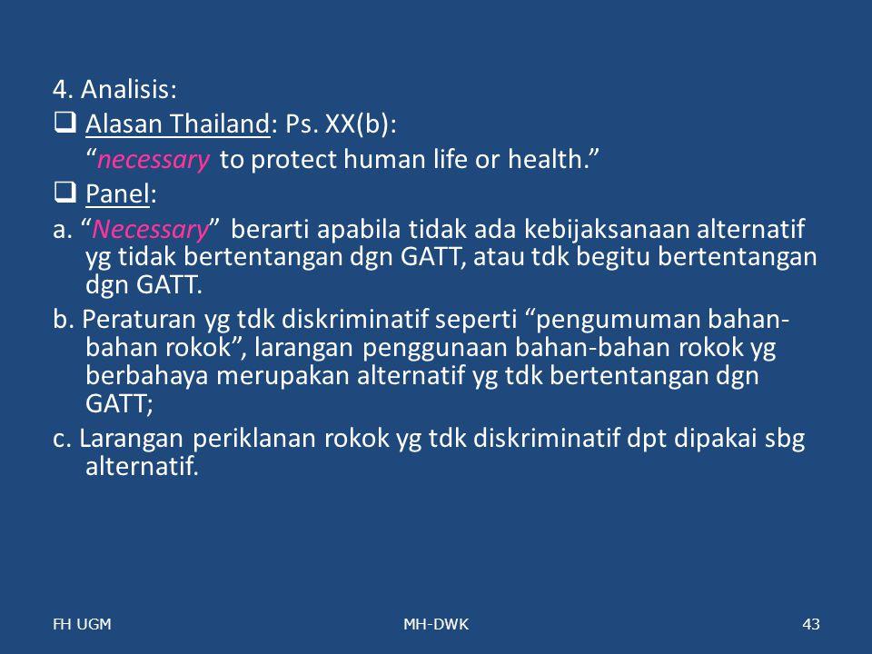 Alasan Thailand: Ps. XX(b):