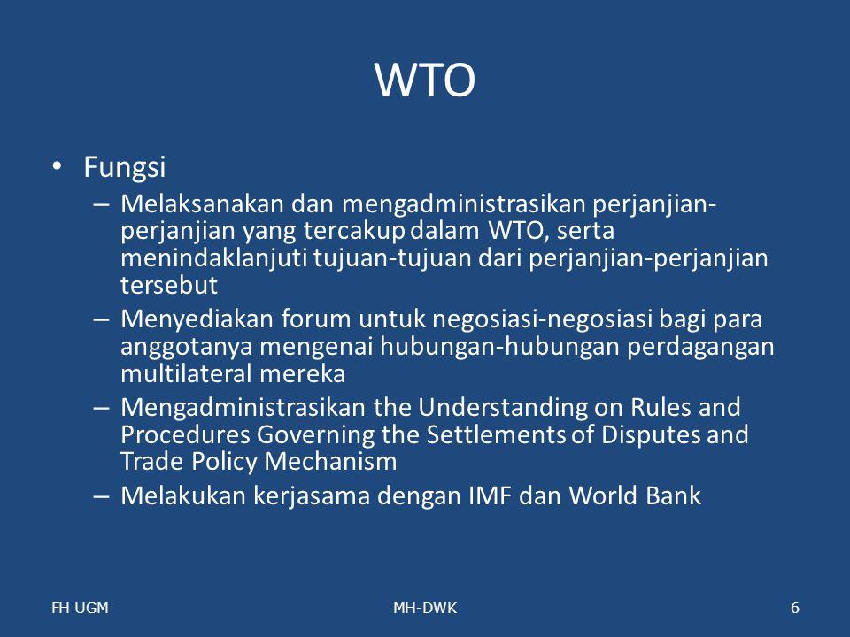 WTO Fungsi.