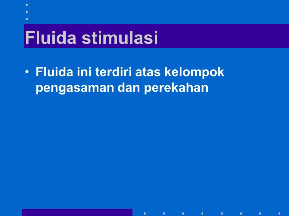 Fluida stimulasi Fluida ini terdiri atas kelompok pengasaman dan perekahan
