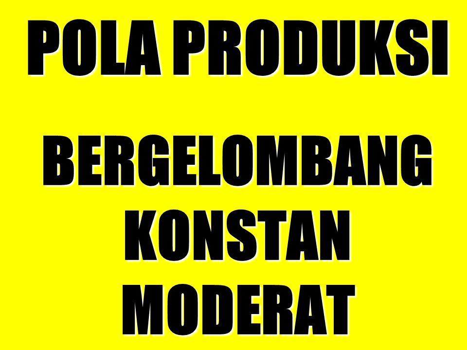 POLA PRODUKSI BERGELOMBANG KONSTAN MODERAT