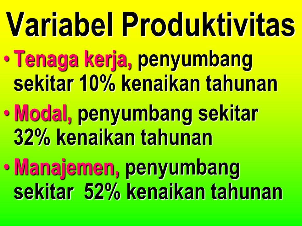 Variabel Produktivitas