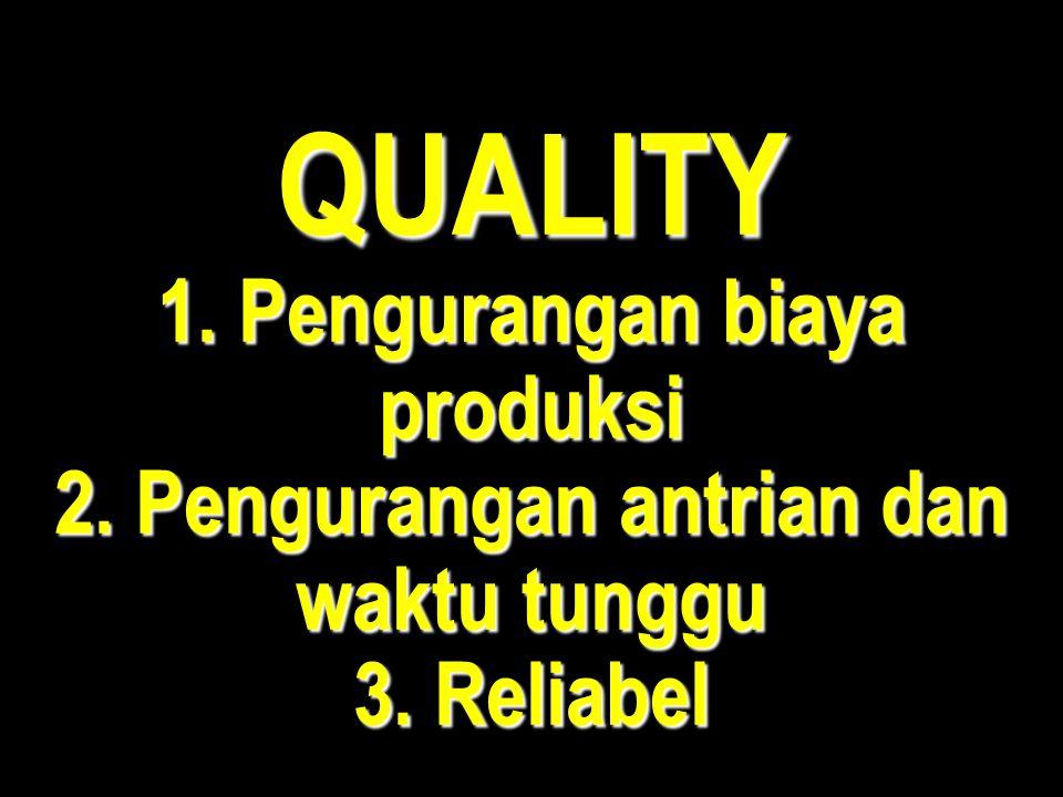 QUALITY 1. Pengurangan biaya produksi 2