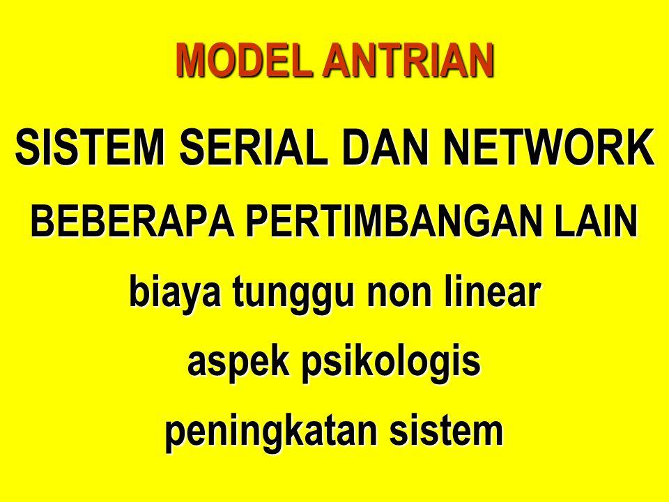 SISTEM SERIAL DAN NETWORK