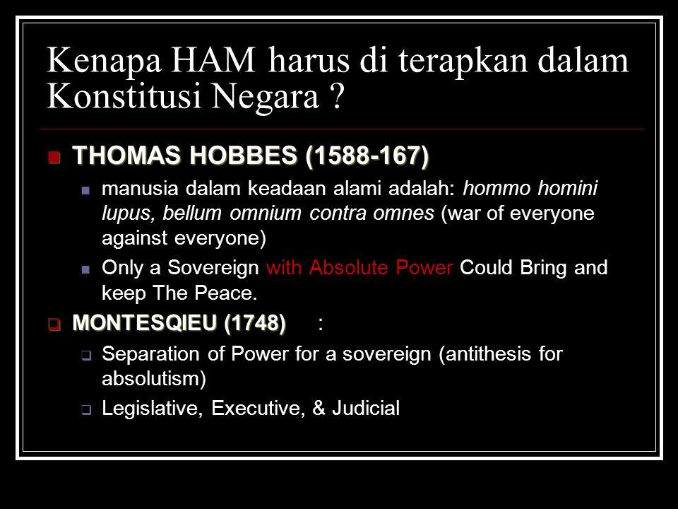 Kenapa HAM harus di terapkan dalam Konstitusi Negara