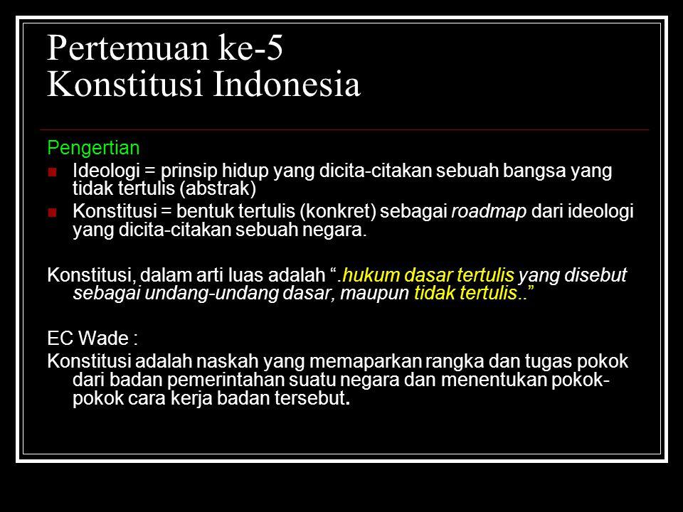 Pertemuan ke-5 Konstitusi Indonesia