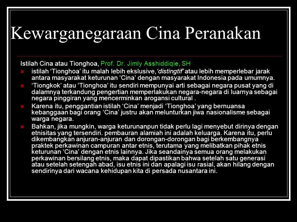 Kewarganegaraan Cina Peranakan
