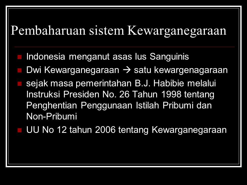 Pembaharuan sistem Kewarganegaraan