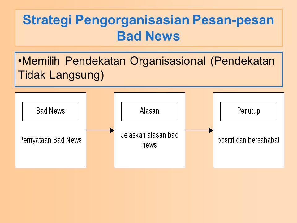 Strategi Pengorganisasian Pesan-pesan Bad News