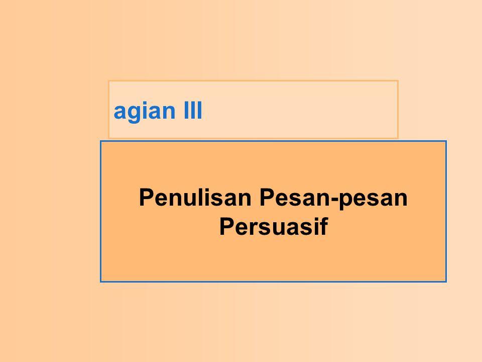 Penulisan Pesan-pesan Persuasif