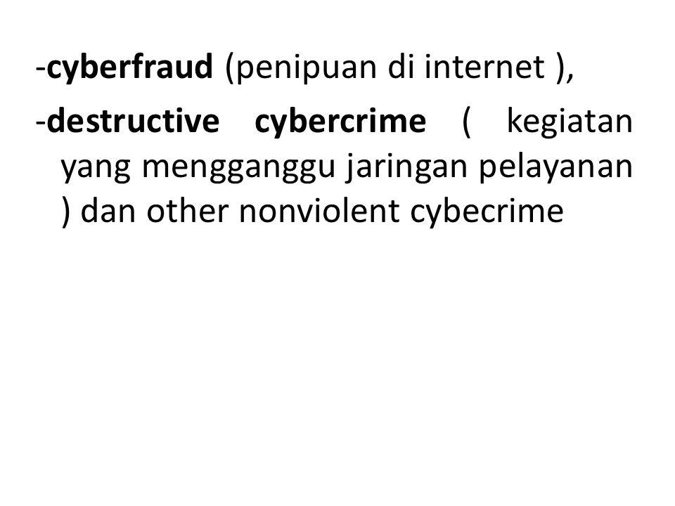 -cyberfraud (penipuan di internet ),