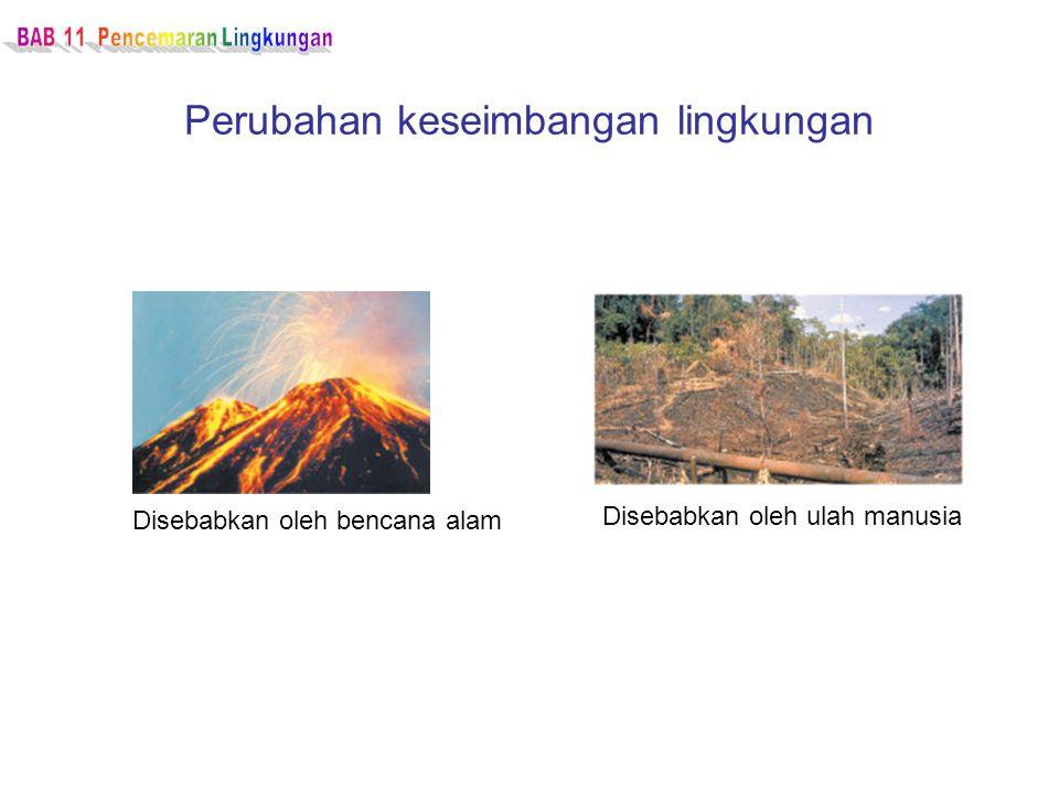 Perubahan keseimbangan lingkungan