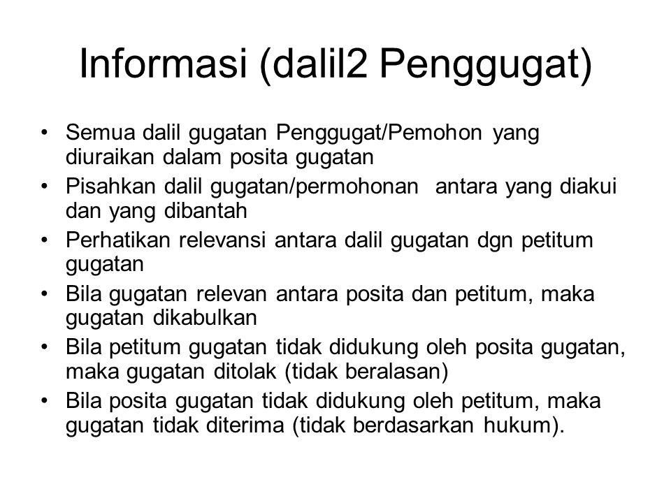 Informasi (dalil2 Penggugat)