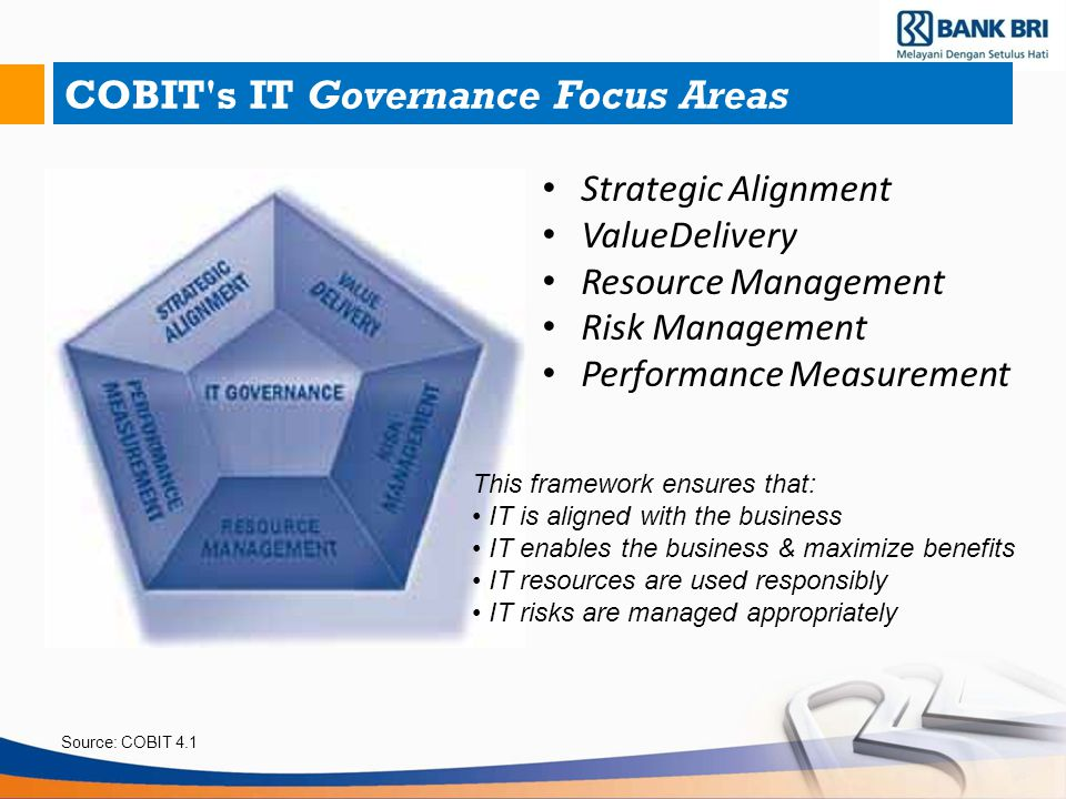 COBIT s IT Governance Focus Areas
