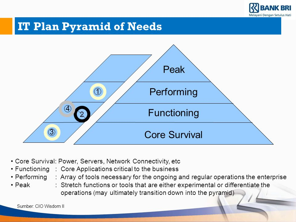 IT Plan Pyramid of Needs