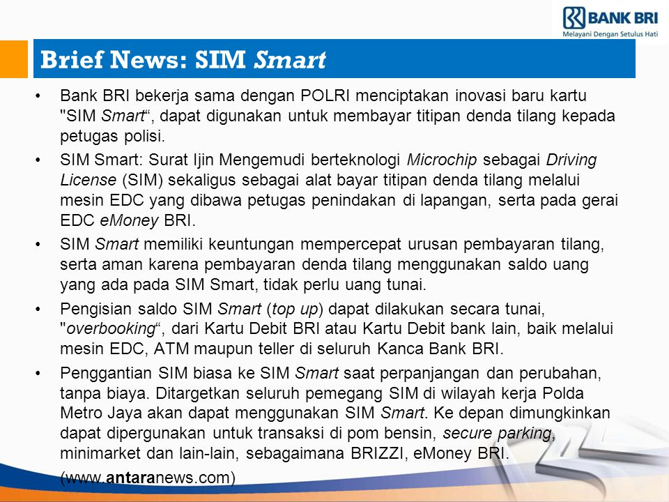 Brief News: SIM Smart