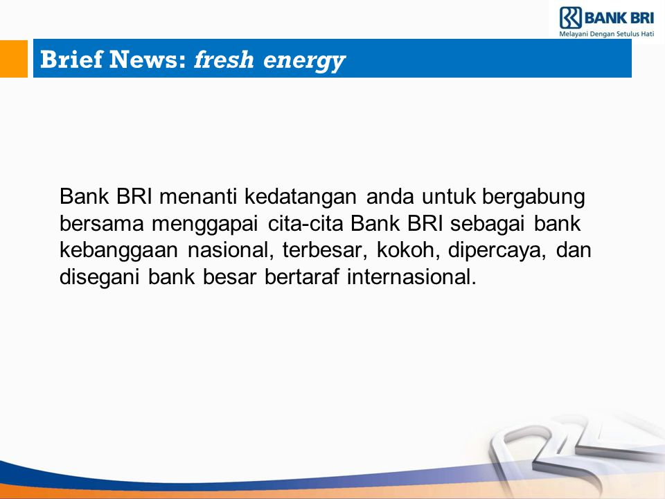 Brief News: fresh energy