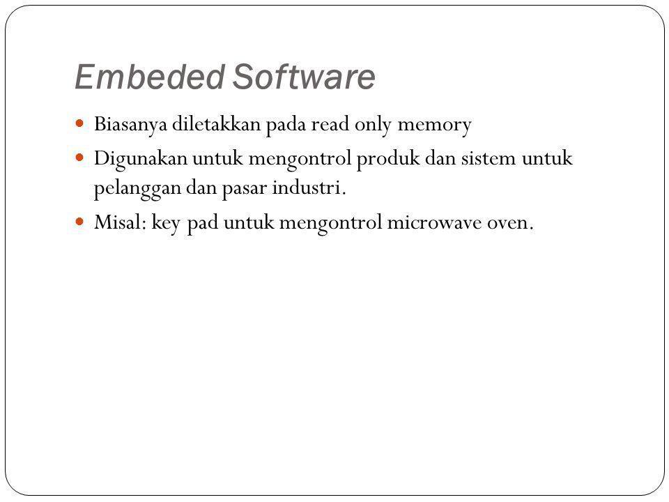 Embeded Software Biasanya diletakkan pada read only memory