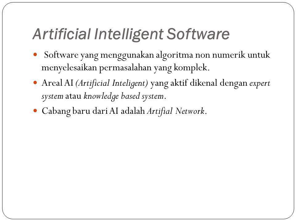 Artificial Intelligent Software