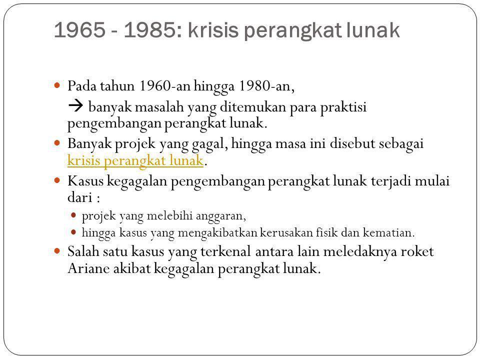 1965 - 1985: krisis perangkat lunak