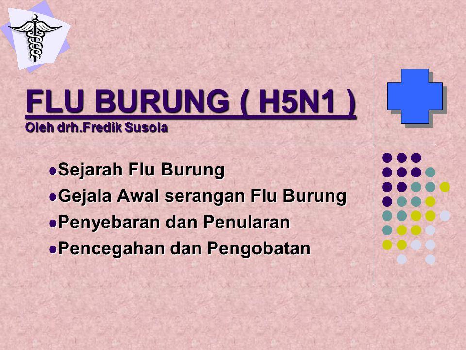 FLU BURUNG ( H5N1 ) Oleh drh.Fredik Susola