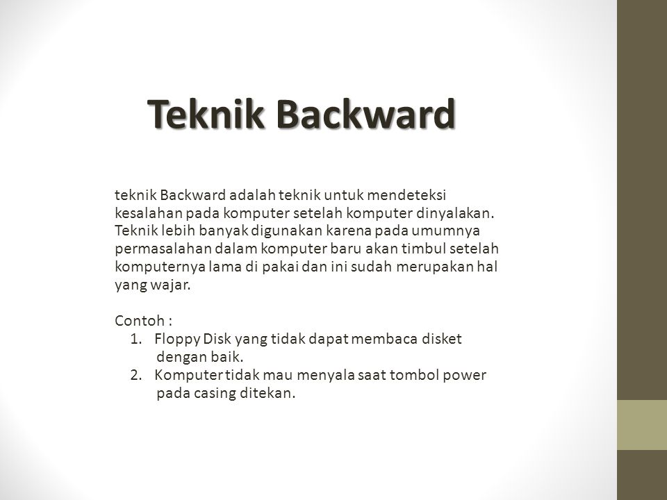 Teknik Backward
