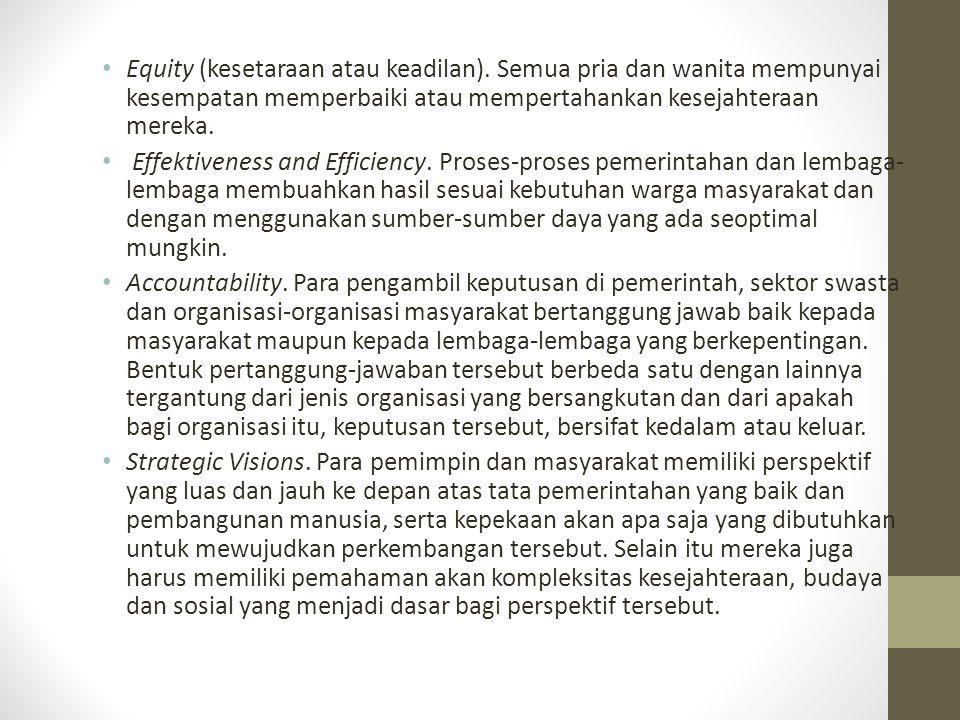 Equity (kesetaraan atau keadilan)