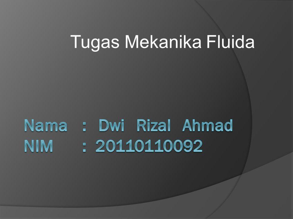 Nama : Dwi Rizal Ahmad NIM : 20110110092