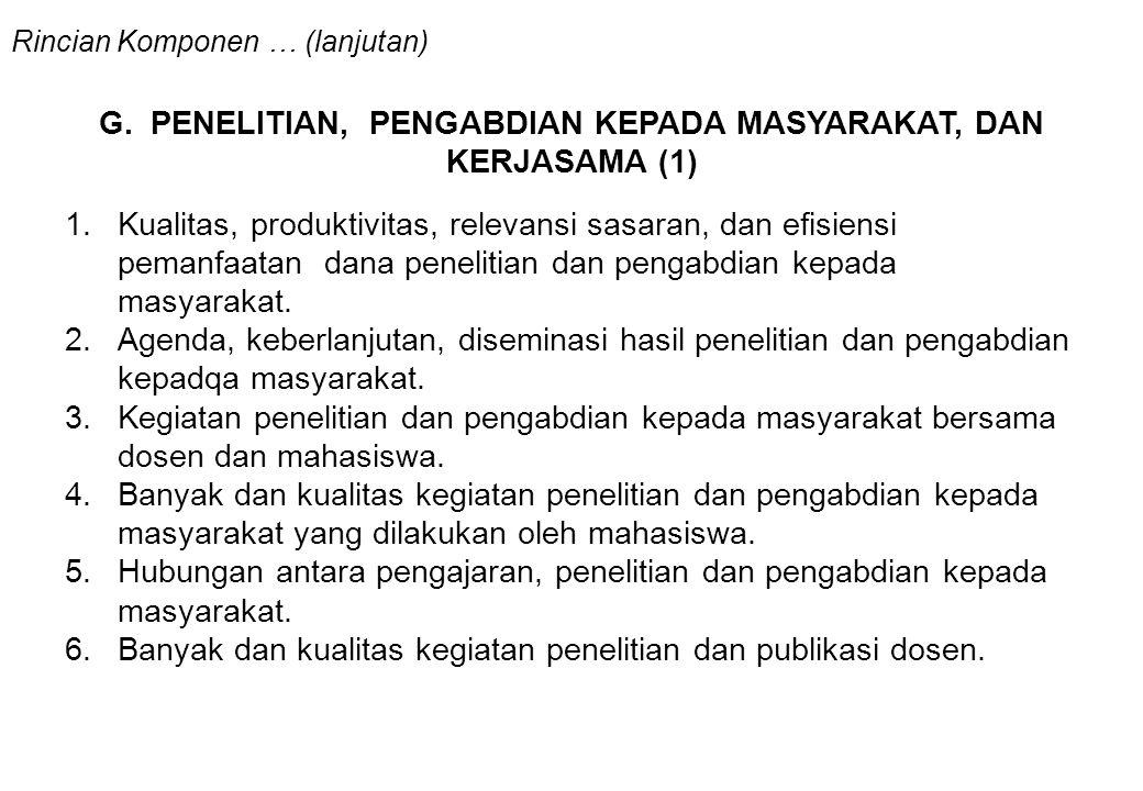 G. PENELITIAN, PENGABDIAN KEPADA MASYARAKAT, DAN KERJASAMA (1)
