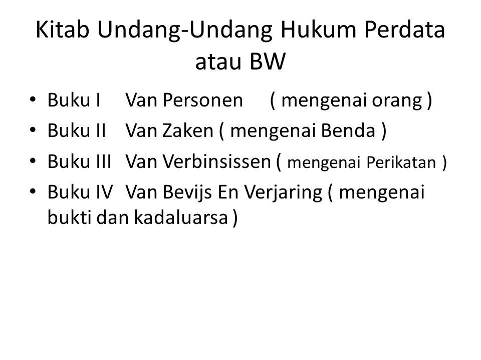 Kitab Undang-Undang Hukum Perdata atau BW