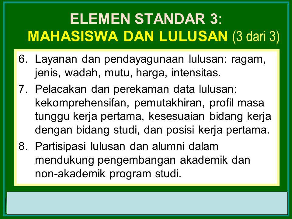 ELEMEN STANDAR 3: mahasiswa dan Lulusan (3 dari 3)
