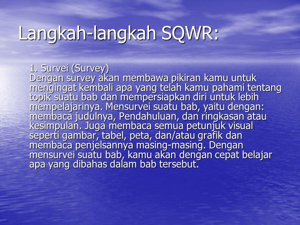 Langkah-langkah SQWR: